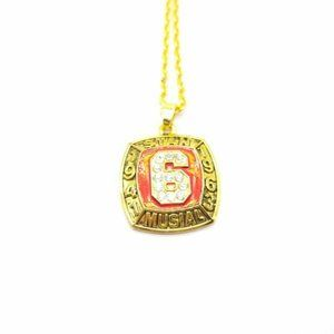 USA Hall Of Fame Stan Musial Pendant Necklace